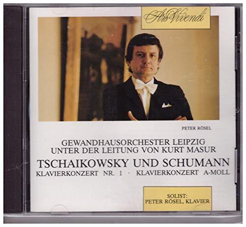 Gewandhausorchester Leipzig Klavier Peter Rösel Tschaikowsky Klavierkonzert Nr.1 und Schumann Klavierkonzert A-Moll Rares CD – Album
