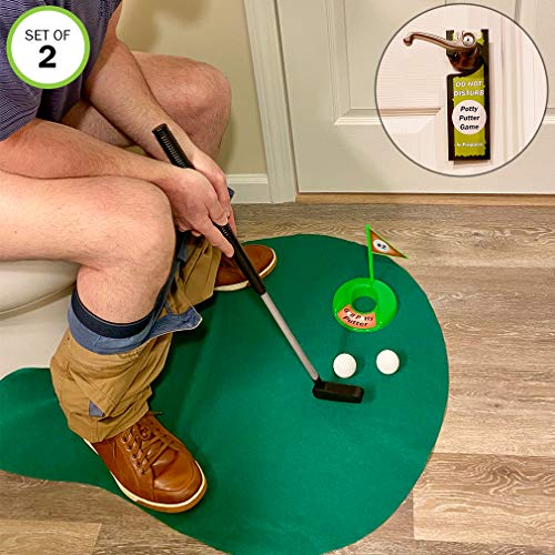 Evelots Toilet/Bathroom Golf Putting Game/Practice-Whole 6 Pc-Set/2