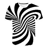 Camiseta 3D Hombre Camiseta Divertida de Manga Corta Tops Camiseta de Moda para Hombre, Túnel Espacial 6XL