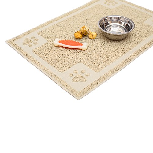 Cavalier Pets, Medium Dog Bowl Mat for Cat and Dog Bowls, Silicone Non-Slip Absorbent Waterproof Dog...