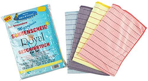AQUA CLEAN Sonnenschein Royal Geschirrtücher 4er Set