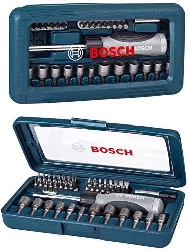 BOSCH (ボッシュ) ラチェット 式 ドライバー セット ドライバービット ドライバービット ソケット セット 46pcs 2607017399 [並行輸入品]