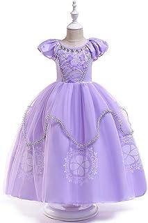 Vestido de princesa de las niñas Vestidos de las muchachas del soplo de la manga de la princesa Vestidos traje de Las Niña...