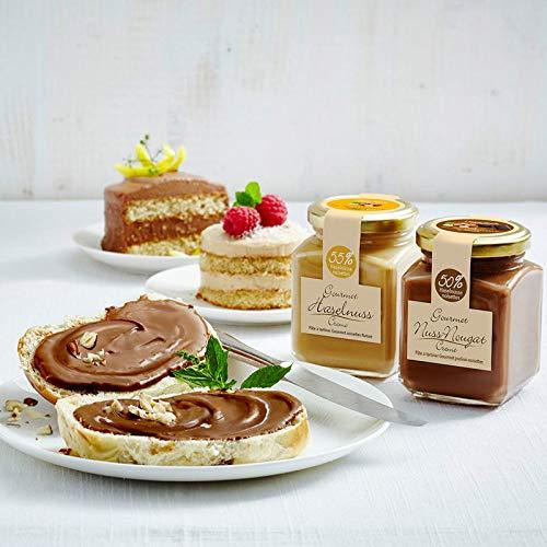 Gourmet Haselnuss-Creme-Natur: Süßes Gourmet Frühstück: Piemont Haselnuss-Creme mit 50% Nussanteil