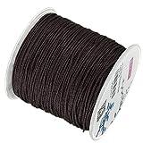 My-Bead - Cordón de nailon de 90 m, 1 mm, color marrón, impermeable, cuerda de nailon de alta calidad para fabricación de joyas, manualidades, precio básico 0,13 céntimos por metro