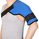 LotFancy Gel Ice Pack with Shoulder Wrap, Hot Cold Therapy Compress for Shoulder, Back, Knee, Hip, Reusable Heating Cooling Pack for Pain Relief, Sport Injuries, Swelling, Sprain, Inflammation