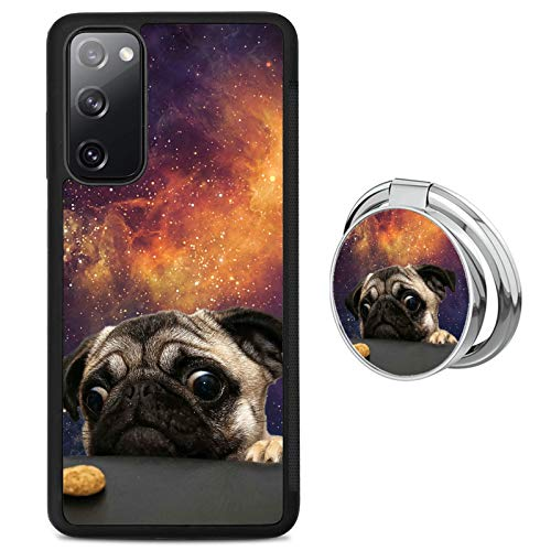 Pug Dog Samsung Galaxy S20 FE 5G Case with Grip Ring Holder Multi-Function Cover Slim Soft and Hard Tire Shockproof Protective Phone Case Slim Hybrid Shockproof Case for Samsung Galaxy S20 FE 5G