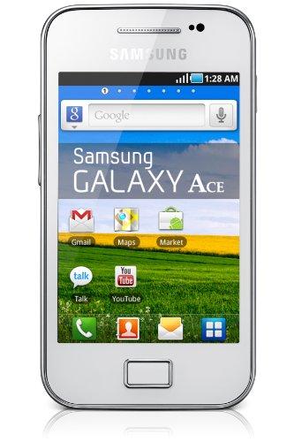 Samsung Galaxy Ace (S5830i) - Smartphone libre (pantalla táctil de 3,5' 320 x 480, cámara 5 Mp, 158 MB, procesador de 832 MHz, 278 MB de RAM, S.O. Android 2.3), blanco