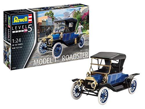 Revell-1913 Ford T Roadster, Escala 1:24 Kit de Modelos de plástico, Multicolor, 1/24 (Revell 07661 7661)