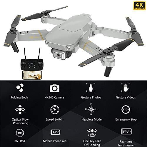 GD89 PRO RC Globale Drohne 4K Verstellbare Weitwinkel Selfie Drone mit Kamera HD Quadrocopter, Fernbedienung Drohne X Pro WiFi FPV Drohnen,1200 mAh Akku,Flugzeit 12-15 Minuten, Headless-Modus (A)