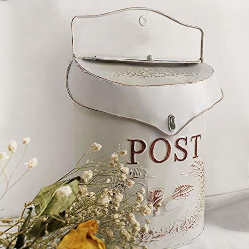 BGYX Rustikal Verzinktem Metall Blumen Post Mailbox - Shabby Chic Stil Dekor Retro Mailbox Double Inlet Design Kann Für Die Wanddekoration Verwendet Werden