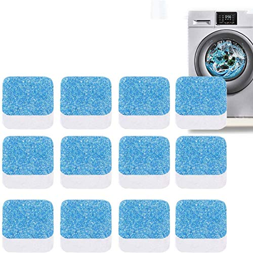 HHYSPA Multi-Functional Power Tablet Cleaner,12 Pcs Solid Washer Deep Cleaning Tablets,Deep Clean Effervescent Tablet for Bath Room Kitchen