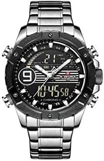 Naviforce Men's Black Dial Stainless Steel Analog Watch - NF9146S-SWB