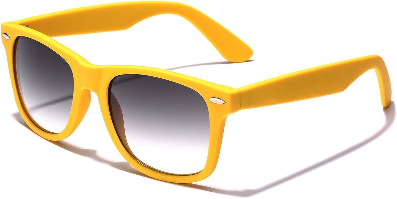 colorful Retro Fashion Sunglasses  Smooth Matte Finish Frame  Yellow