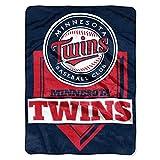 Northwest MLB Minnesota Twins Royal Plush Raschel Throw, One Size, Multicolor