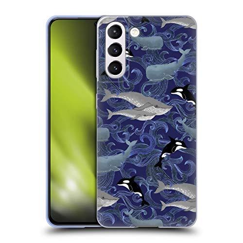 Head Case Designs Licenza Ufficiale Micklyn Le Feuvre Giganti Porpora Pattern Cover in Morbido Gel Compatibile con Samsung Galaxy S21 5G