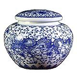 RTYHN Jarrón de Porcelana Azul y Blanca,floreros Decorativos Modernos,Jarrón de Cerámica para el Hogar,Estilo de China Ming
