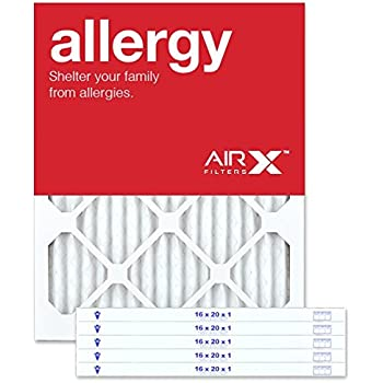 AIRx ALLERGY 16x20x1 MERV 11 Pleated Air Filter - Made in the USA - Box of 6