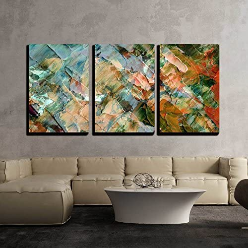 wall26 3 Piece Canvas Wall Art Picture Oil Paints Abstract Background Hand Paintings Modern product image