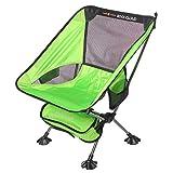 RockCloudアウトドアチェア折りたたみ特大メッシュ付き超軽量ハイバックコンパクトイス椅子【耐荷重120kg】お釣り登山携帯便利収納袋付 (緑)