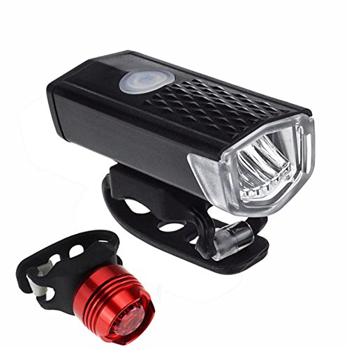 New!DEESEE(TM) Super Bright USB Led Bike Bicycle Light Rechargeable Headlight &Taillight Set