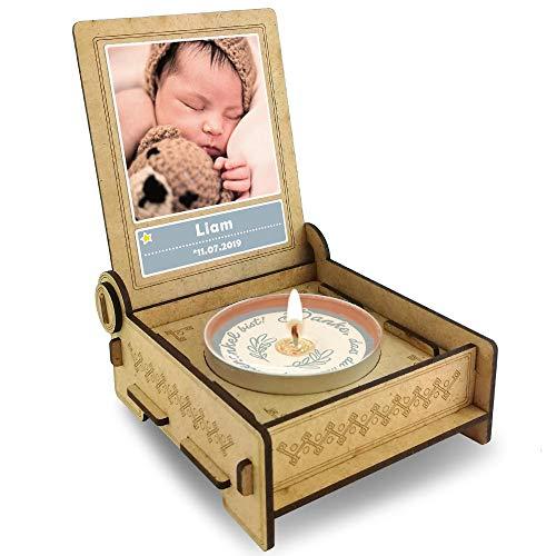 FANS & Friends Candle IN The Box Patenonkel vragen | Geschenkbox met boodschap & kaars | Gepersonaliseerd met afbeelding en naam | Wilt je mijn peetonkel Sein?