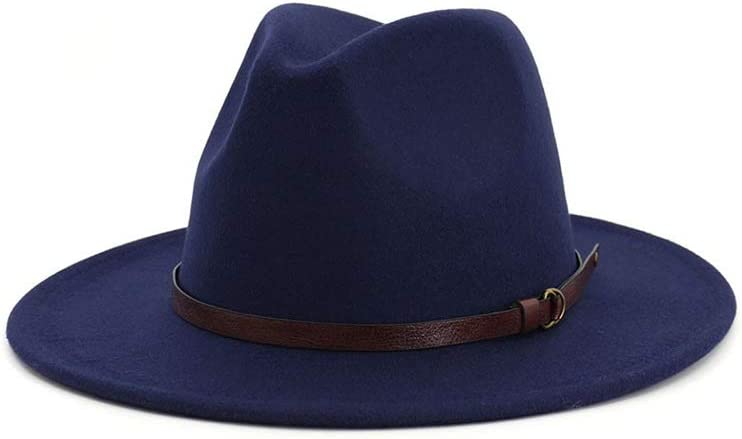 HHHCM-US 2019 Men Today's only Women Wool Fedora Pop with Max 90% OFF Belt Brim Hat Wide