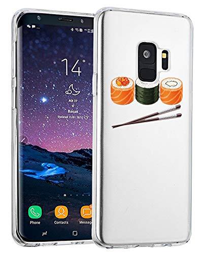 Galaxy S9 Carcasa transparente Clear Samsung Galaxy S9 S9 Plus Funda silicona ultra fina suave fina TPU Slim Cactus Fox Funda antigolpes No-Slip Anti-arañazos Sushi 32