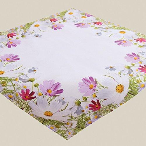 Kamaca Serie FRÜHLINGSZAUBER hochwertiges Druck-Motiv mit Blumen EIN Eyecatcher in Frühling Sommer (Mitteldecke 85x85cm)
