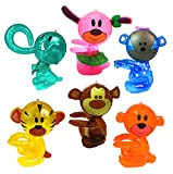 Inflatable Animals Assorted Pack Of 6 Inflatable Zoo Animals For Jungle Safari Party Supplies, Decorations, And Favors - Lion, Tiger, Elephant And More Hug Me Zoo Animals