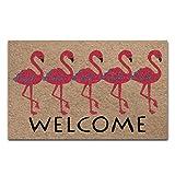 Custom Doormat Welcome Flamingo Door Mat Floor Mat Inside/Outside Rubber Mat Rug Home D¨¦cor