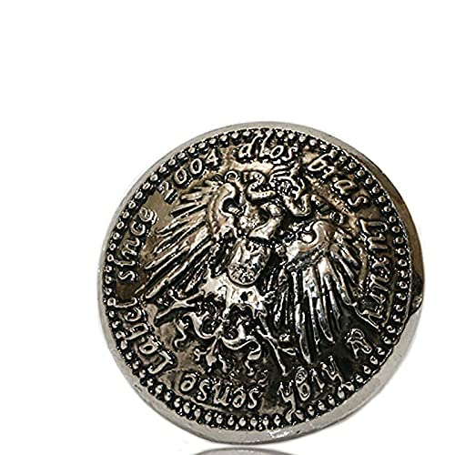 コンチョ ジャーマンコイン ライオン イーグル コインコンチョ オリジナルコイン ネイティブ コイン インディアン 亜鉛合金コンチョ ナバホ ネジ ピューター製 ウォレット