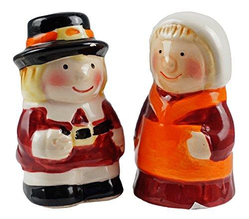 Gerson Pilgrim Salz- und Pfefferstreuer Paar, Thanksgiving
