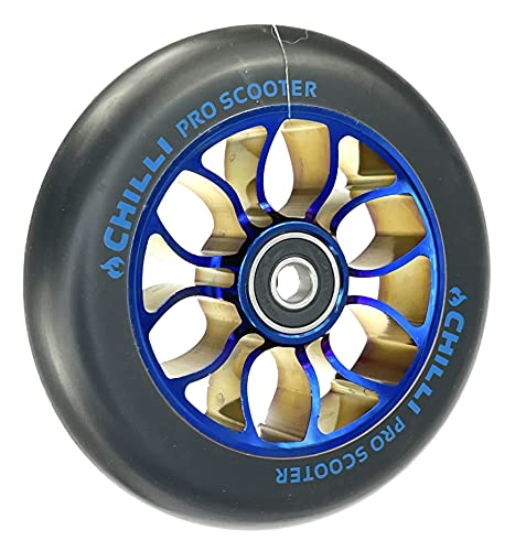 Chilli Pro - Rueda para patinete (110 mm), color azul