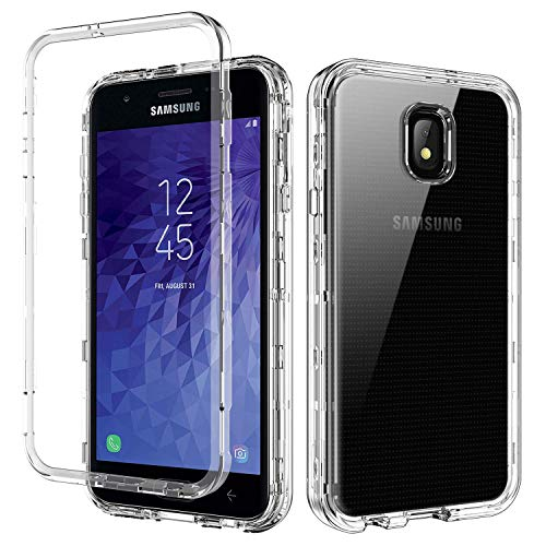 YINLAI Clear Case for Galaxy J7 2018/j7 Crown/J7 Aero/J7 Refine/J7 Star/J7V/J7V 2nd Gen,3 in 1 Heavy Duty Shockproof Protective Hybrid PC TPU Bumper Transparent Phone Cover for Samsung J72018,Crystal