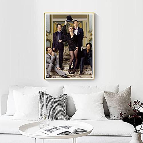 shuimanjinshan Big Bang Theory Movie Poster Wall Artist Home Decoration Canvas Art Nordic Living Room Hotel Bar Cafe (Pe-189) 50x70cm No frame