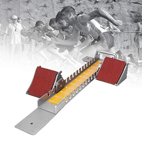 ZPCSAWA Pedales Multifunción para el Bloque de Inicio, Bloque de Inicio del Sprinter Ajustable Bloques de Inicio Pista con Altura Ajustable Libremente Adecuado para Carril de Cemento de Plástico