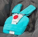 ByBoom® - Gurtpolster Set - universal für Babyschale, Buggy, Kinderwagen, Autositz (z.B. Maxi Cosi City SPS, Cabrio, Cybex Aton usw.); In vielen Farben; MADE IN EU, Farbe:Aqua