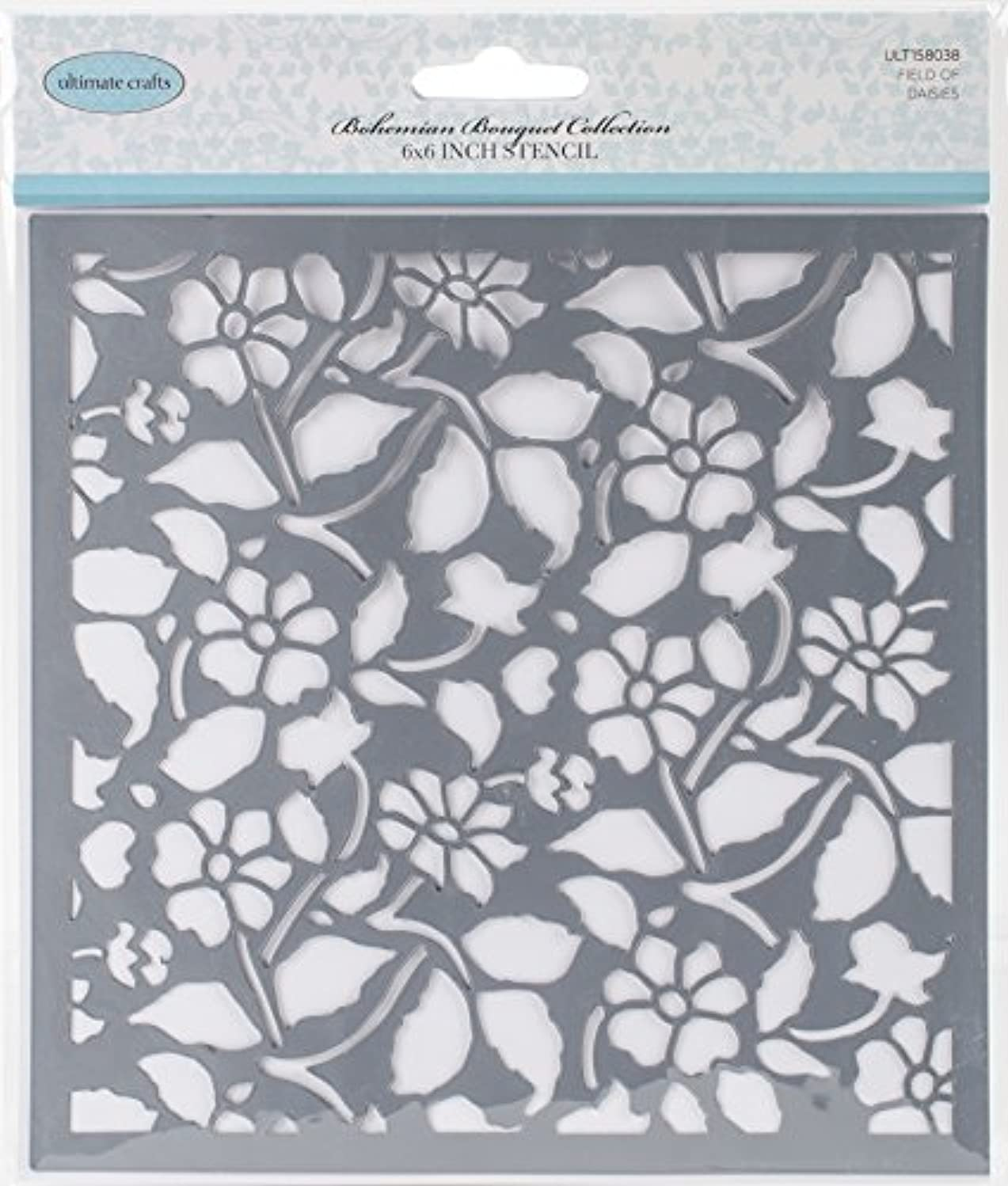 Artdeco Creations Field of Daisies Ultimate Crafts Bohemian Bouquet Stencil 6