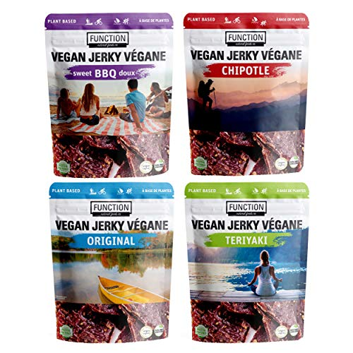 Function Jerky - Plant Based Vegan Jerky - Non-GMO - Plant Protein - 4 Pack