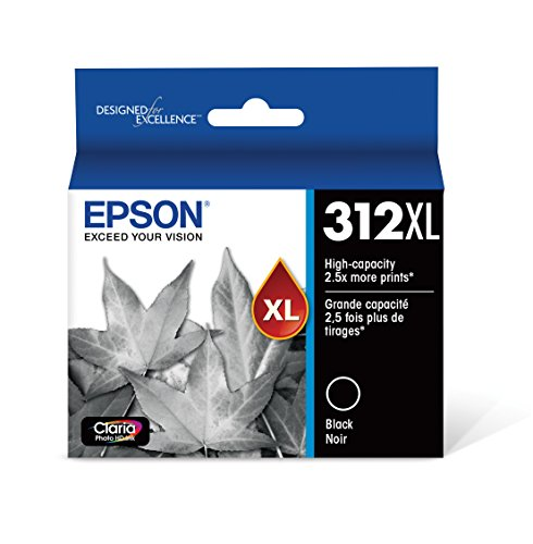 EPSON T312 Claria Photo HD Ink High Capacity Photo Black Cartridge (T312XL120-S) for select Epson Expression Photo Printers