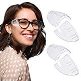 rmenoor - 2 paia di protezioni laterali per occhiali di sicurezza, protezione laterale trasparente, protezione laterale universale per occhiali di sicurezza per occhiali piccoli e medi