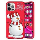 Pnakqil Navidad Funda para Huawei Honor 7A / Y62018 5,7',Antichoque Rojo Suave Silicona Carcasa con Diseño de Patrones Navideños Protectora Case Compatible con Huawei Y62018, MuñEco de Nieve