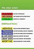 """Hunde-Halstuch, Aufschrift """"Service Dog"""" (""""Hilfshund""""), bestickt, Blau Modisches Halstuch Verhindert Unfälle, warnt vor dem Hund - 3"""