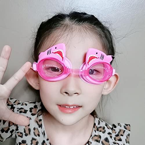 JYDZSW Gafas de natación 1pc Silicone Lindo Dibujos Animados natación Gafas Anti-Niebla Gafas Transparente Impermeable niños niños (Color : B)