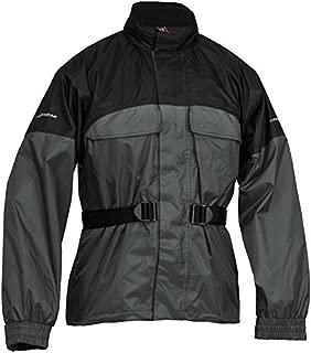 Firstgear Rainman Waterproof Rain Jacket 2013 Black Silver XL/X-Large