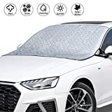VOHQPEI Car Windshield Cover, SUV Magnetic Snow Cover, Extra Large Windscreen Cover, Frost Guard for Cars, SUV and Truck