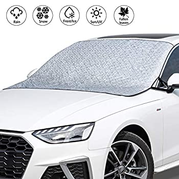 VOHQPEI Car Windshield Cover SUV Magnetic Snow Cover Extra Large Windscreen Cover Frost Guard for Cars SUV and Truck