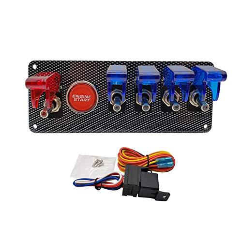 CAIZHIXIANG Panel de Interruptores 12V LED de Encendido for Racing de Coches de Arranque del Motor pulsador de la Placa del Interruptor de Arranque LED Toggle