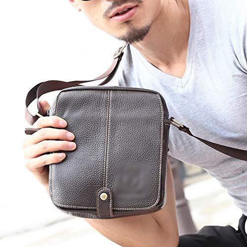 Confortable Messenger Bag Sac à bandoulière en Cuir for Homme Élégant (Couleur : 2)